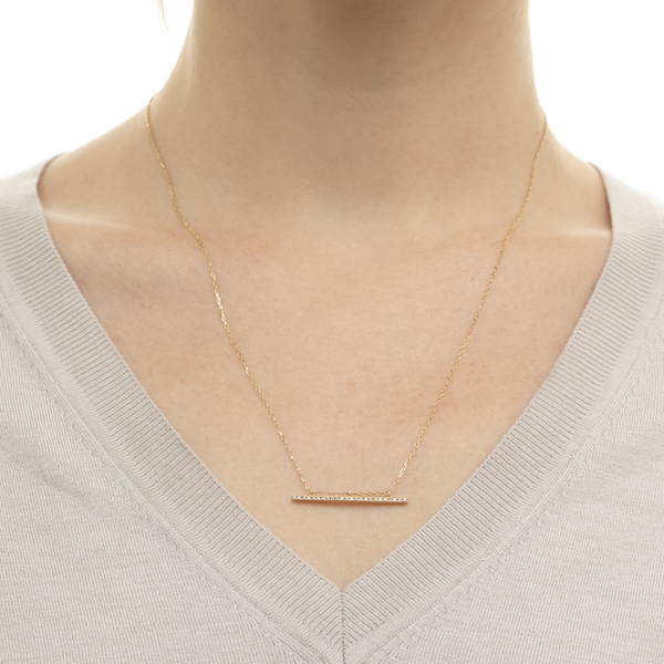 Gossamer Diamond Long Bar Necklace GS14KDLN ネックレス ダイヤモンド