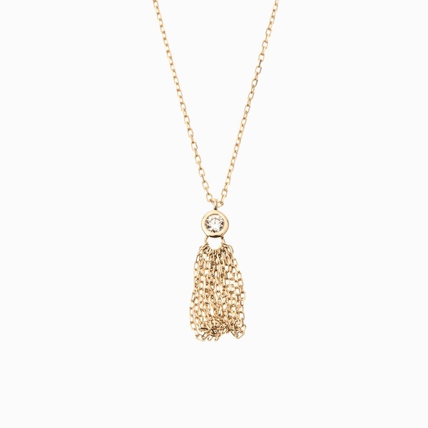 Crinoid Diamond Necklace