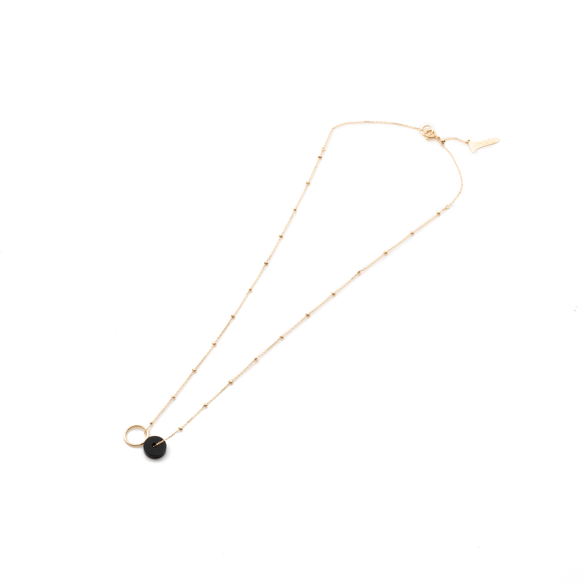 Orbital Onyx Stud Chain Necklace AB59KCN onyx オニキス スタッドチェーン