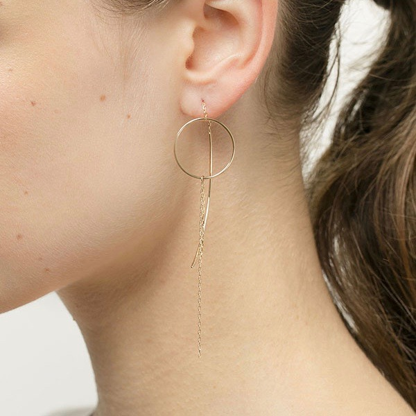Circle Chain Earrings S AB21KMES イヤリング ピアス 片耳