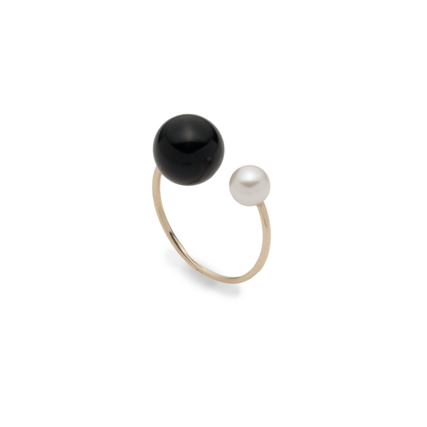 【NEW】Onyx & Akoya Pearl Ear Cuff PE51KCF new 新作 イヤーカフ イヤカフ オニキス アコヤ アコヤパール パール