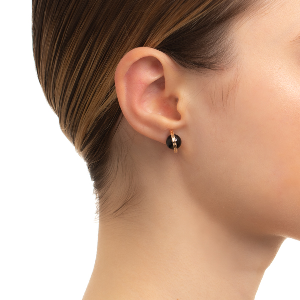 【NEW】Beluga Onyx Earring M size CS39KCE NEW K10 ベルーガ オニキス ピアス 片耳
