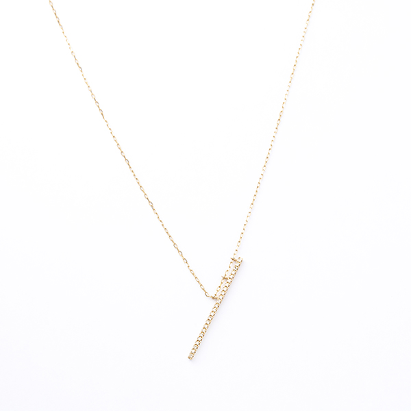Obliqueness Diamond Bar Neclace GS15KDL ネックレス ダイヤモンド