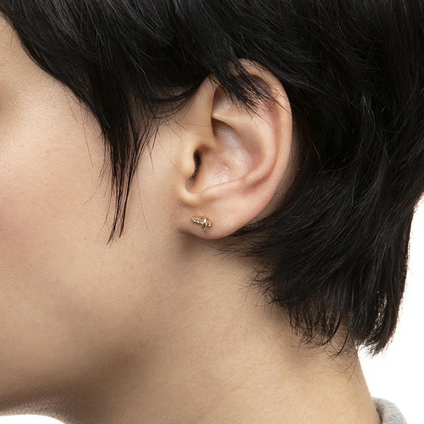 Deco Small Diamond Earring With Small Hoop GS13KDE イヤリング ピアス ダイヤモンド