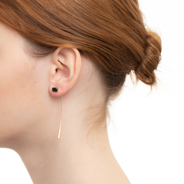 【NEW】Bird of Paradise Stone Arrow Earring BP42KCE オニキス K10 アロー 新作 NEW 片耳 ピアス
