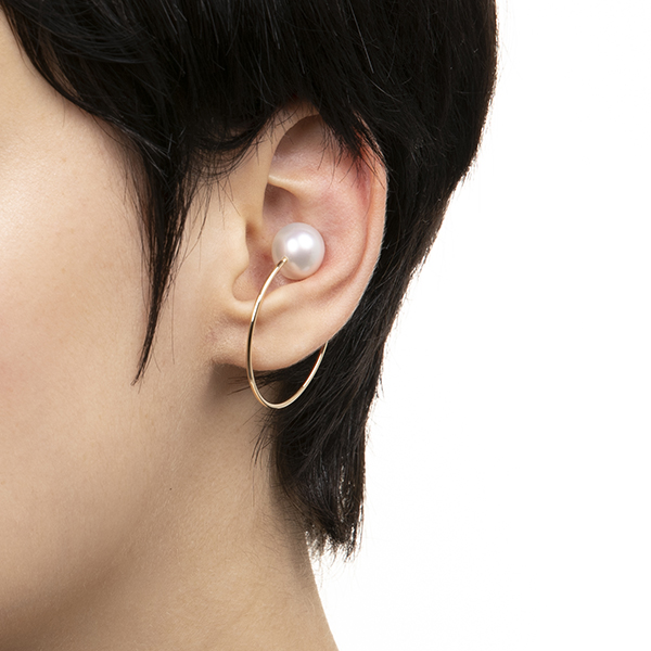 Oversized  Ear Hoop PE13KPF イヤーカフ パール