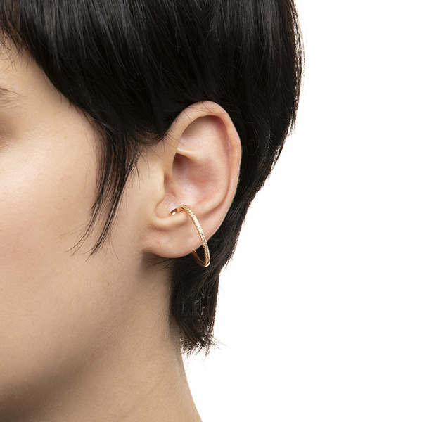 Ear Cuff(Msize)/YellowGold GS08KDFM イヤーカフ ダイヤモンド