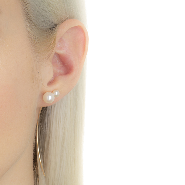 Arrow Earring Collection With Akoya Pearl PE37KPE 2019aw pearl Arrow  パール アロー 片耳 K10 アコヤ アコヤパール ギフト