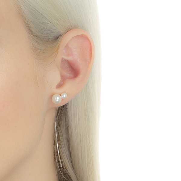 Arrow Earring Collection With Akoya Pearl PE37HPE pearl arrow earring akoyapearl whitegold ホワイトゴールド パール アコヤパール 片耳