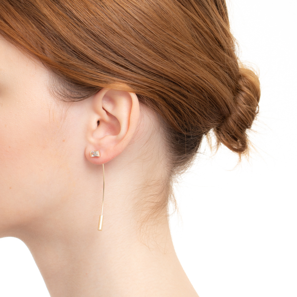【NEW】Bird of Paradise Stone Arrow Earring BP43KCE K10 アロー 新作 NEW 片耳 ピアス ホワイトトパーズ