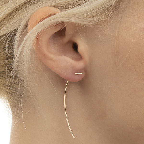 Arrow Earring Collection with Short Gold Bar AB09KME イヤリング ピアス 片耳