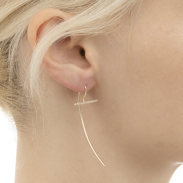 Gossamer Short Diamond Hook Earring GS01KDE ピアス ダイヤモンド プレシャス precious 両耳
