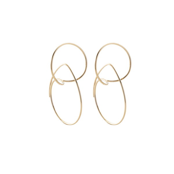 Floating Hoop Earring S size AB14KMES ギフト