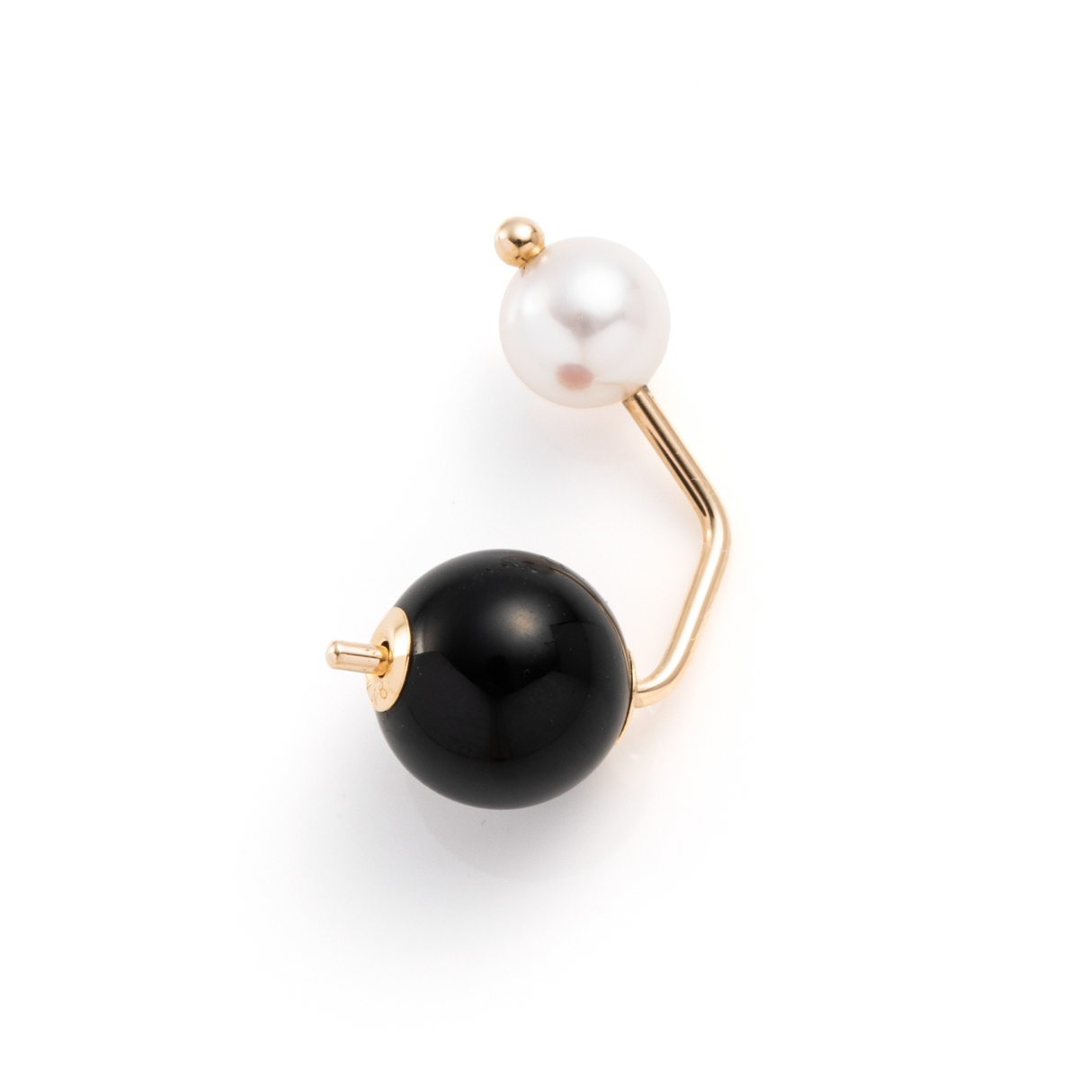 Bumble Bee Pearl Earring with Onyx Backing PE54KPE / CT27GCC  Bumblebee バンブルビー アコヤ パールキャッチ オニキス