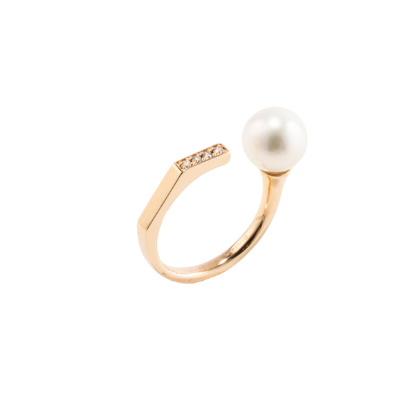 【受注予約】Manhattan Pearl Diamond Ring