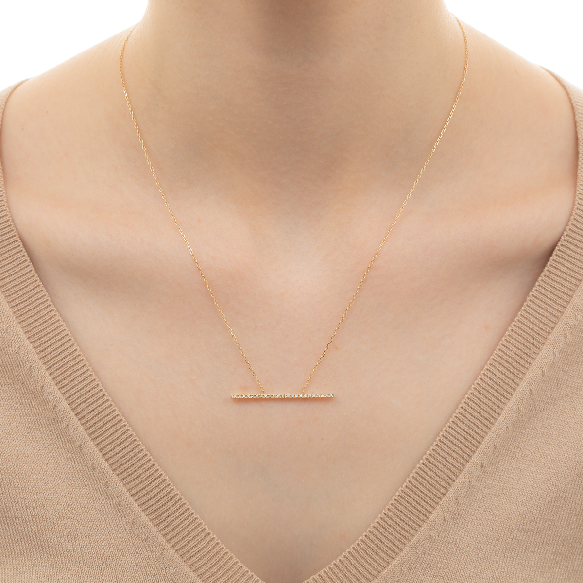 Trapeze Diamond Necklace Lsize TP01KDN Trapeze Diamond Necklace ダイヤ ダイヤモンド トラペーズ ネックレス