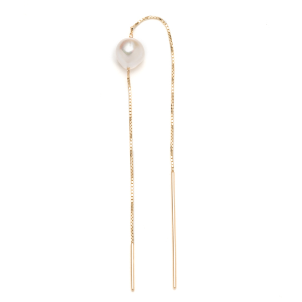 Akoya Pearl Chain Earring PE42KPE akoya pearl ピアス アコヤ パール ギフト ホワイトデー プレゼント K10 チェーンピアス