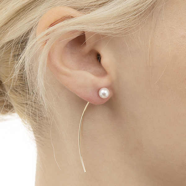 Arrow Earring Collection with 'M Size' Akoya Pearl PE15KPE ピアス パール アコヤパール アロー AkoyaPearl 片耳