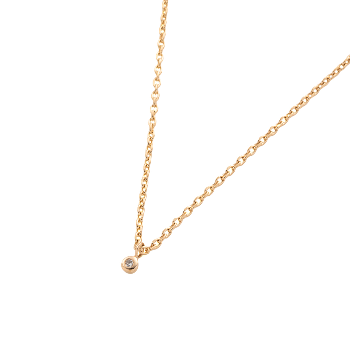 Diamond Chain Necklace AB36KDN K10  チェーンネックレス ダイヤモンド