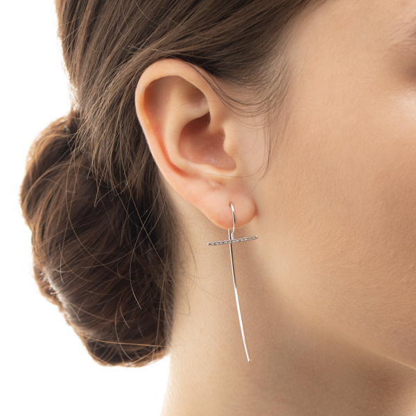 Gossamer short Diamond Hook Earring GS01HDE ピアス ホワイトゴールド WhiteGold Diamond フックアロー 両耳